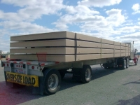 modular containment system panels being transported