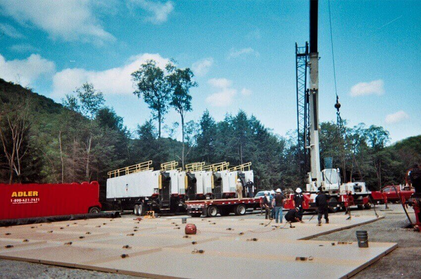 Drillers Containment Pad construction