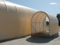 envirohut canopy and spill containment panels