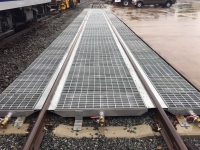 Heavy duty galvanized steel track pans for Polystar Containment Star Track Railway Spill Containment System