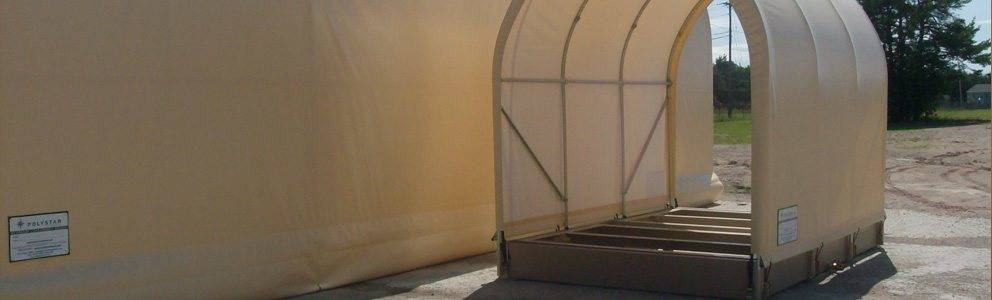envirohut secondary containment system with canopy