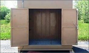 storage building for hazardous materials