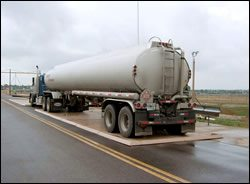 Tanker Truck on Containment Pad