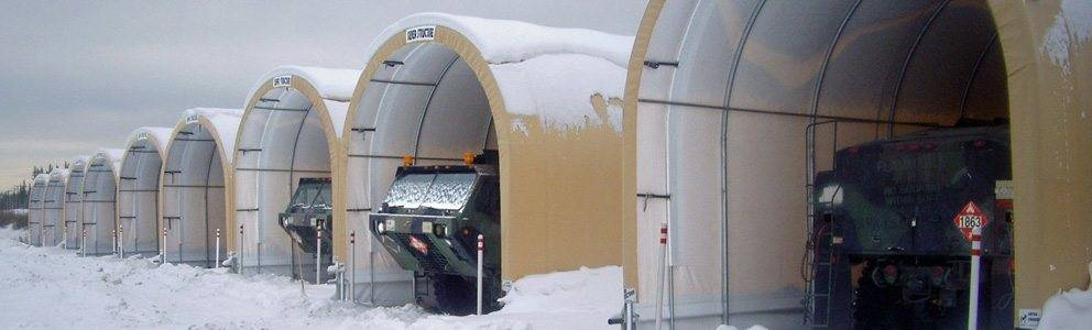 tank containment tents in snow